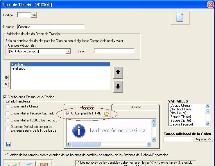 el archivo debe indicar en su interior las variables que se quieren incluir en el cuerpo del mail
