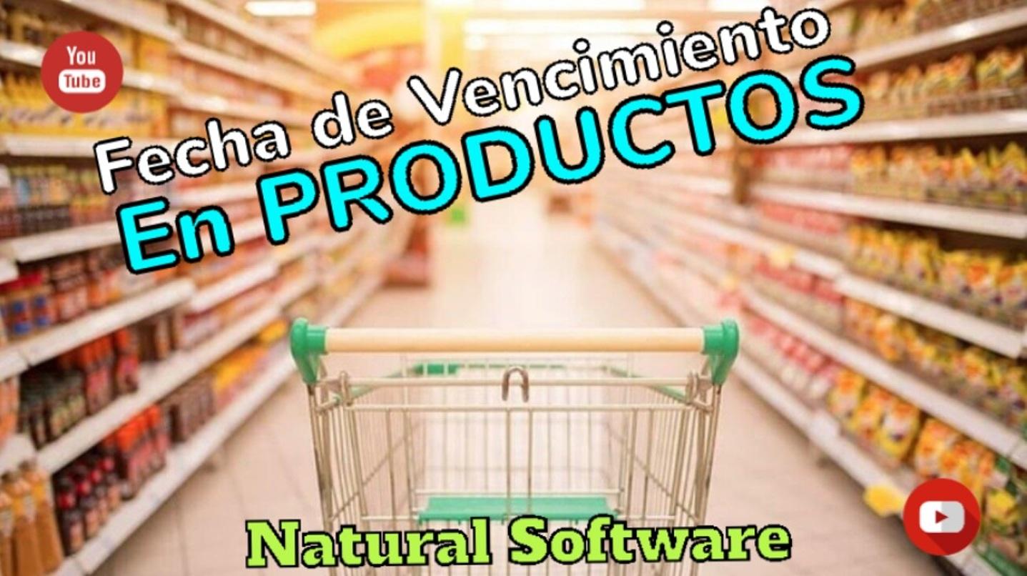 Fecha de Vencimiento en productos